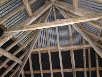 Timber beams in 17th Century Barn