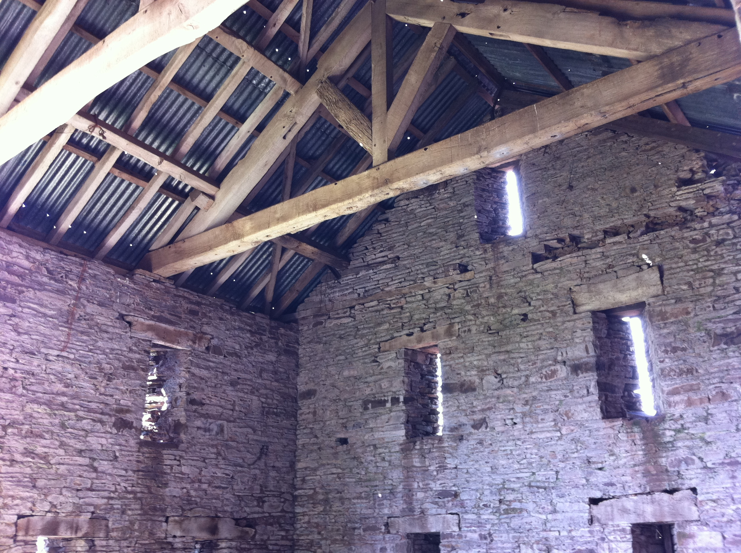 Timber rafter in 17th Century Barn in Somerset